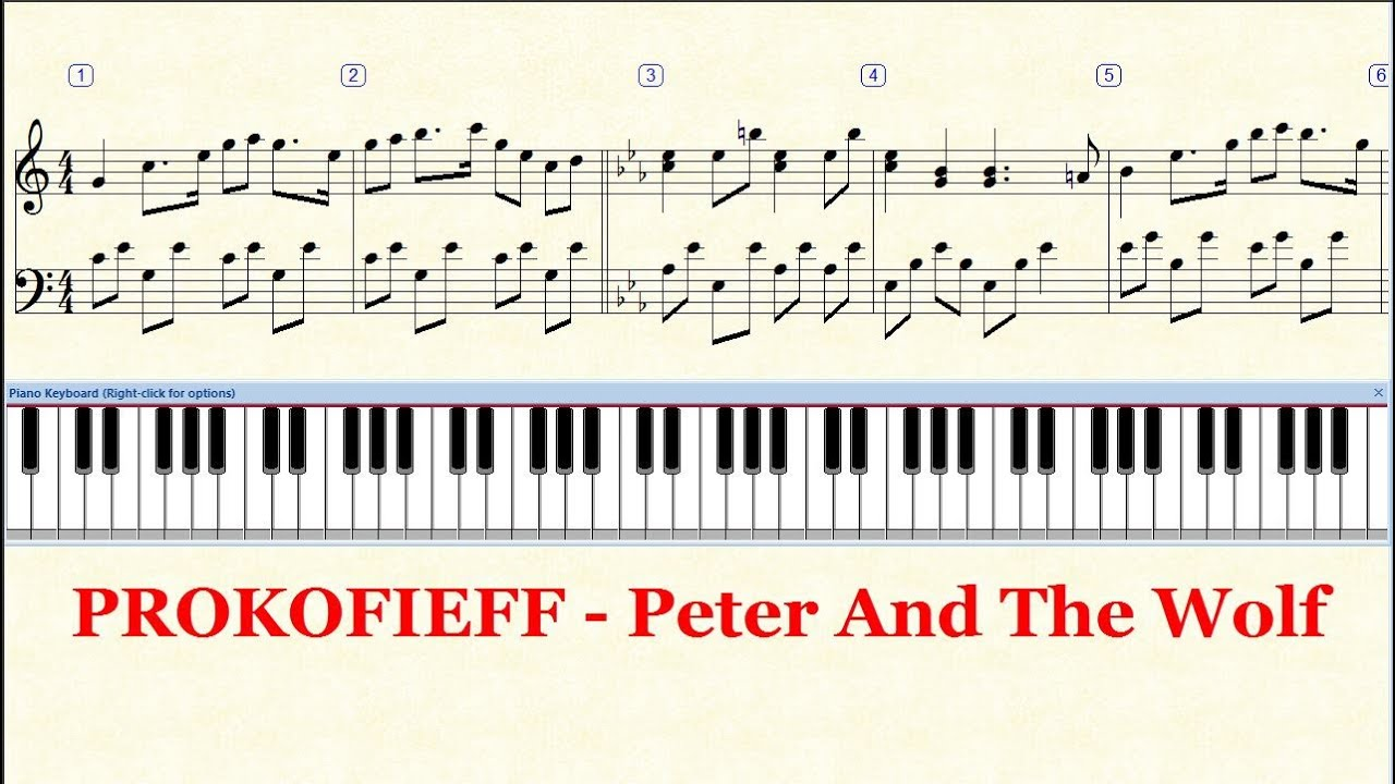 Sergey Prokofiev Piano Solo Peter and the Wolf