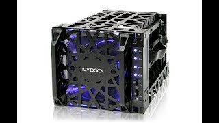 "ICY DOCK Black Vortex MB074SP-1B 3.5"" SATA HDD 4 in 3 Hot-Swap Module Cooler Cage Introduction"