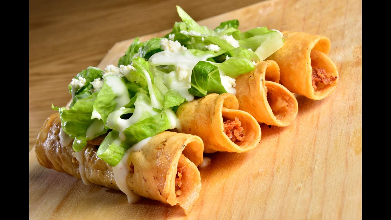 Aprende a cocinar las flautas de pollo youtube for Resetas para cocinar
