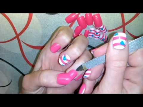 Как снять накладные ногти - YouTube