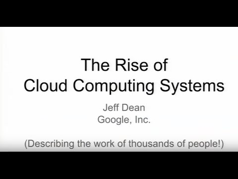 The rise of cloud computing systems