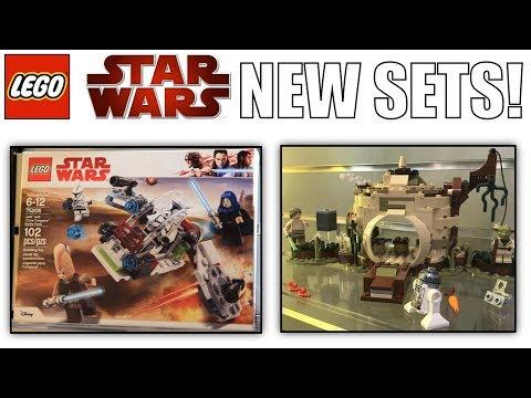NEW LEGO Star Wars 2018 (75208) Yoda's Hut, (75206) Jedi Clone Battle Pack, & Darth Maul!