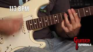 Get Lucky (Daft Punk) - Rhythm - Guitar tutorial with Matt Bidoglia