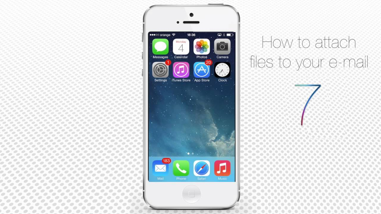 How to Attach Files to Email on iPhone and iPad - YouTube