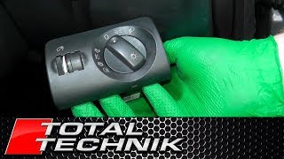 How to Remove Headlight Switch - Audi A6 S6 RS6 - C5 - 1997-2005 - TOTAL TECHNIK