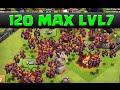 Clash of Clans Gemming LVL 7 Minions 120 Max Minion Raids  MAX LVL 7 MINIONS ROCK!