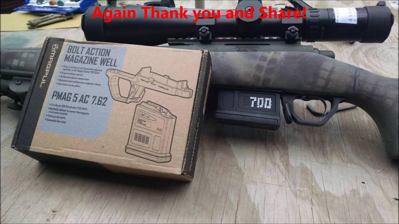 Remington 700 Magpul Bottom Metal Install