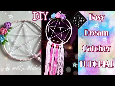 DIY EASY DREAM CATCHER TUTORIAL | FOR BEGGINERS |HOW TO MAKE DREAM CATCHER | DIY with DOLL