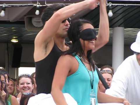 NKOTB Cruise 2013 - Jordan Surprises at the Backrub