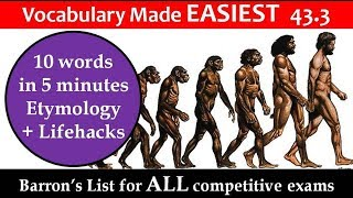 vocabulary made EASIEST 43.3 Learn etymology by puneet biseria in hindi