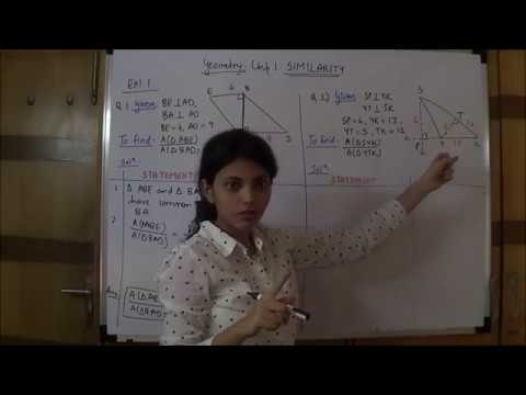GEOMETRY SIMILARITY - EXERCISE 1.1(FULL) SSC BOARD(STD 10TH)