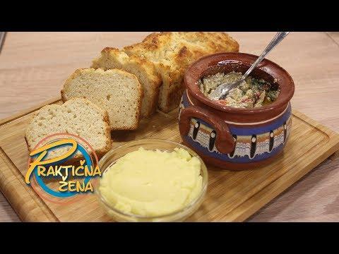 Praktična žena - 1. Brzi hleb od piva 2. Grčki umak od krompira 3. Melidžano salata