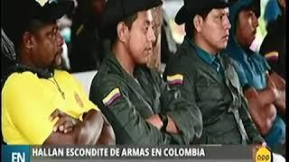 COLOMBIA   HALLAN ESCONDITE DE ARMAS DE DISIDENTES DE LAS FARC QUE RECHAZAN ACUERDO DE PAZ