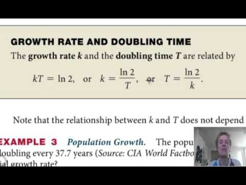 Growth rate and doubling time - YouTube