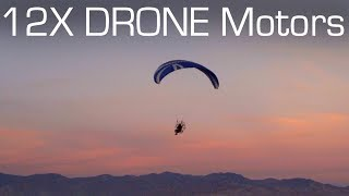 DIY Electric PARAMOTOR with 12 Drone Motors! - RCTESTFLIGHT