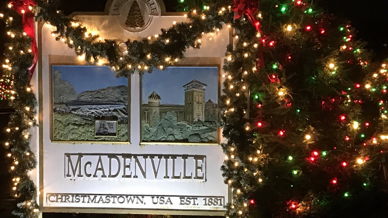 Mcadenville Christmas Lights.Mcadenville Nc Christmas Town Usa 2018