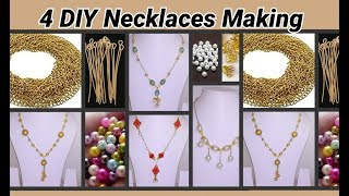 4 DIY Ideas on necklaces making with link chain