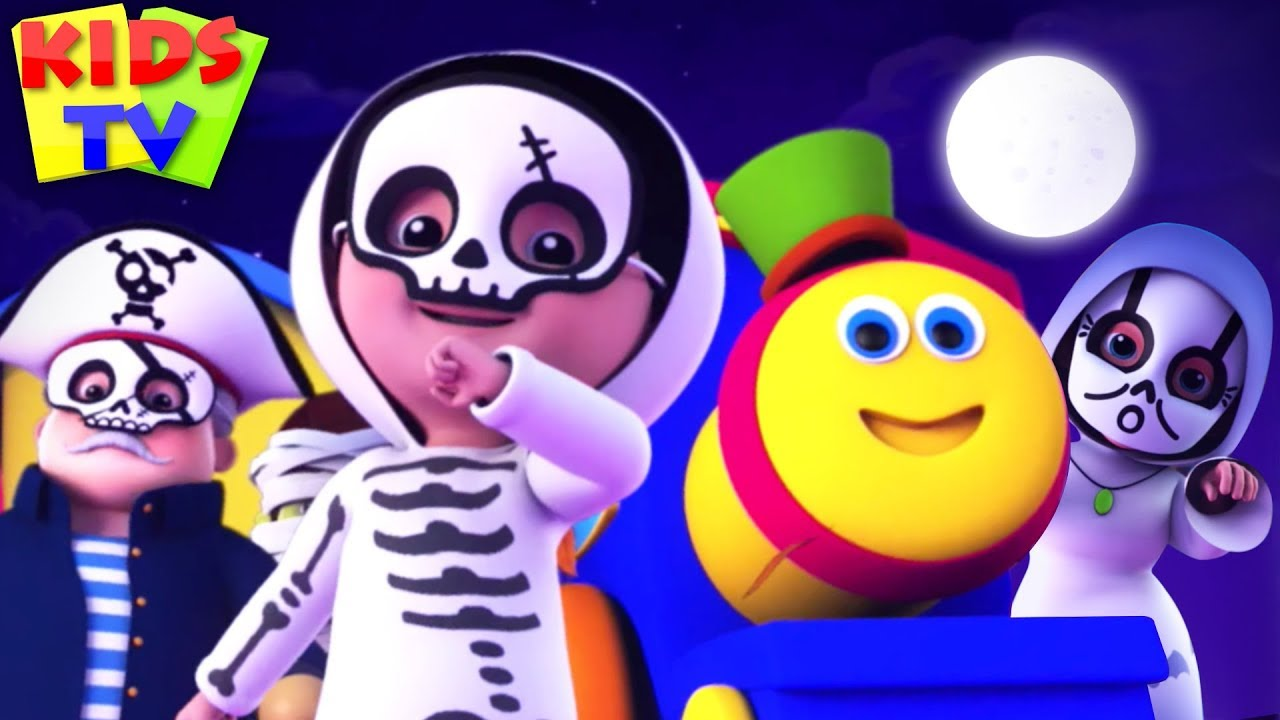 Ghosts Lets go Hunt   Bob The Train   Halloween Songs & Rhymes for Kids