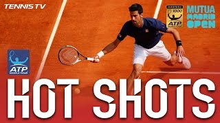 Hot Shot: Djokovic Smiles At Madrid 2017 Volley Winner