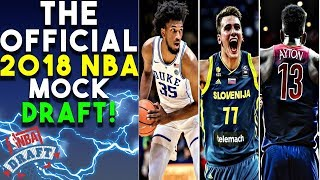 The Official 2018 NBA Mock Draft