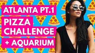 pizza challenge aquarium tour   shaycation atlanta pt 1