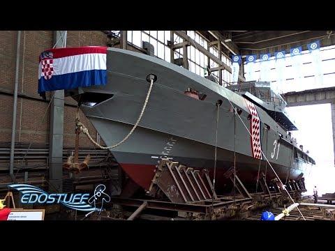 Porinuće Obalnog Ophodnog Broda - Brodosplit Novogradnja 540 - Croatia HD