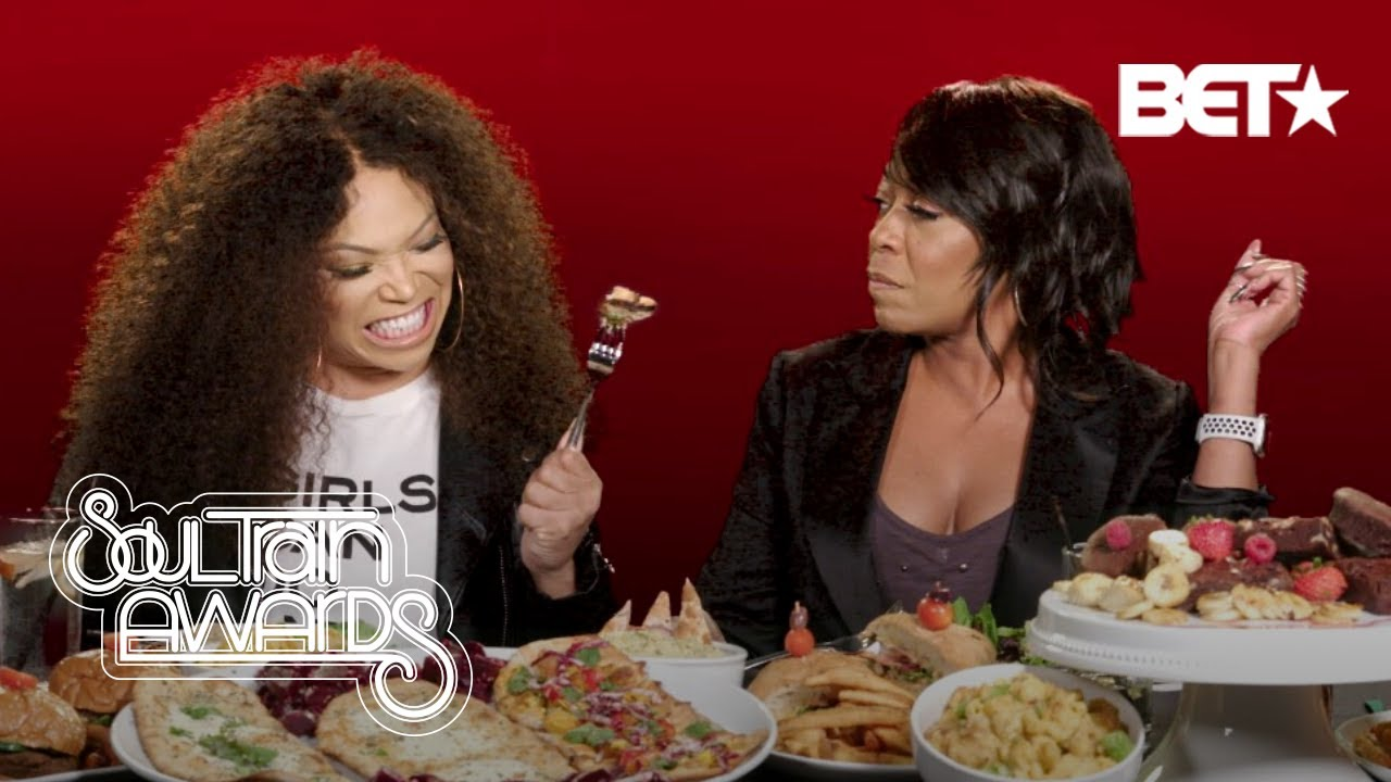 Tisha Campbell and Tichina Arnold's Mukbang Goes Off the Rails | Soul Train Awards 2019