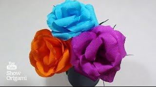 #Розы из гофрированной (креповой) бумаги(Роза из #гофрированной (креповой) бумаги делается очень просто. Для изготовления розы вам понадобится:..., 2016-06-01T09:00:00.000Z)