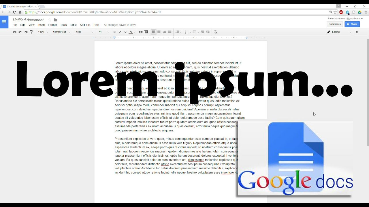 How To Insert Placeholder Text Into Google Docs