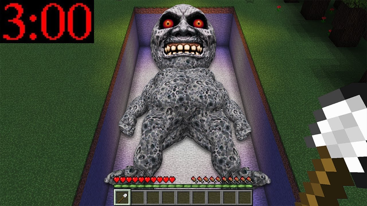 I DUG UP a GIANT LUNAR MOON BOSS GRAVE in MINECRAFT! Scary Giant Grave - Gameplay