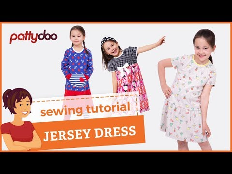 How to sew a kids' jersey knit tank dress with binding and d