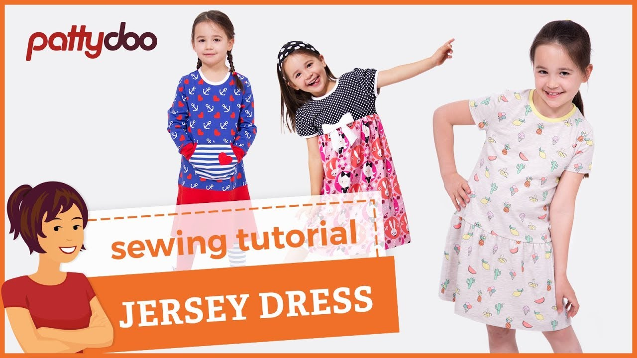 f37458d9762e How to sew a kids  jersey knit tank dress with binding and double needle