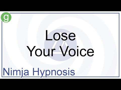 Hypnosis - Lose Your Voice