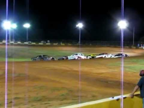 Brock Love's Heat Race at Green Valley Speedway 7/21/12