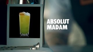 Absolut Madam Drink Recipe - How To Mix