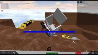 roblox gravel pit epic jump in dump truck