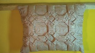 Декоративная подушка буфы, схема Квадраты урок3.
