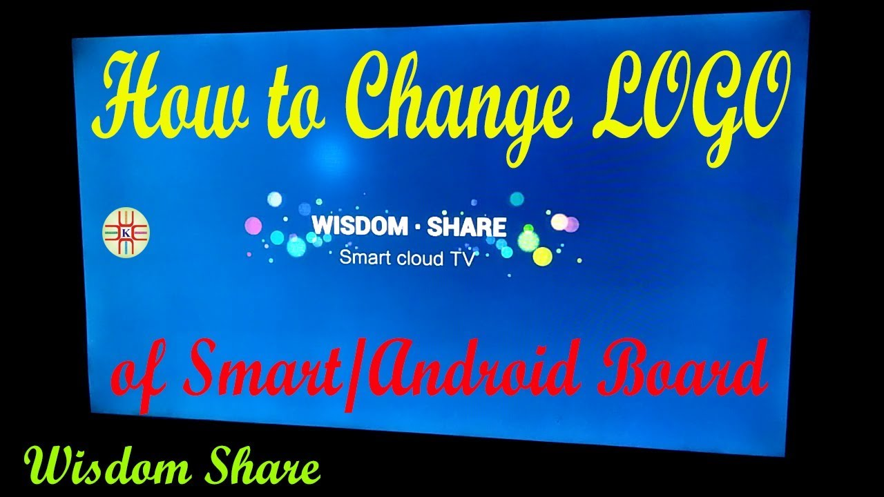 How to Change the Logo of Smart Wisdom Share TV  Complete Detail in  Urdu/Hindi