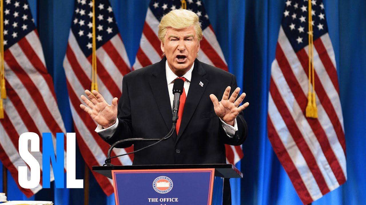 No Thanks! Alec Baldwin Holds a 'You're Welcome' Sign on SNL
