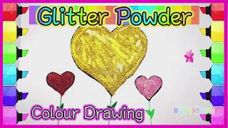 【Shining Powder Craft】Colors Drawing For Kids #儿童画画 |  颜色粉绘画 | 孩子最喜欢的画画