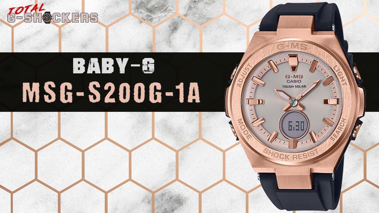 30079509d445 Ladies Casio BABY-G G-MS Rose Gold Tone Watch