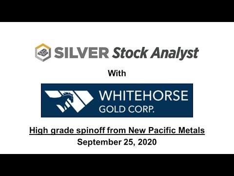 Whitehorse Gold: High grade gold in the Yukon.