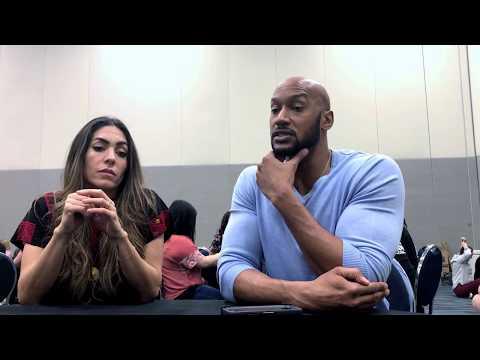 Natalia Cordova Buckley YoYo & Henry Simmons Mack discuss Agents of Shield at Wondercon '18