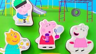 Пеппа и друзья - На детской площадке - Собираем пазлы для малышей |Merry Nika