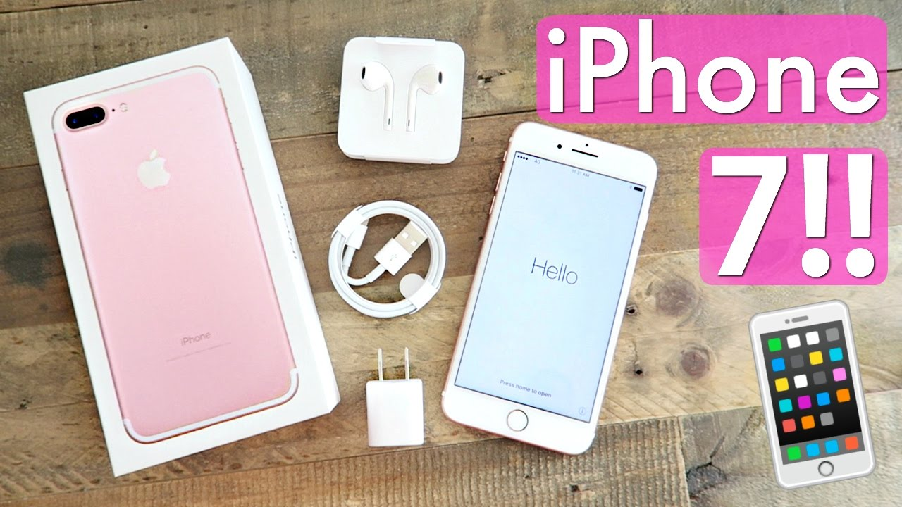 iphone 7 plus unboxing 256gb rose gold youtube