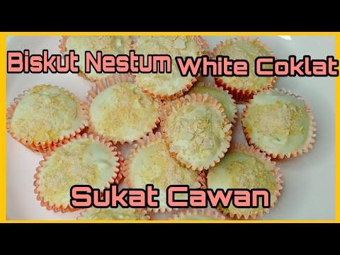 biskut-nestum-white-coklat-sukat-cawan.mudah-dan-sedap.#kuihraya-#resepikuihraya