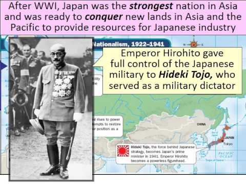 The Rise of Totalitarian Dictators - Hideki Tojo in Japan and Agression Leads to War
