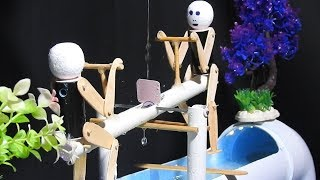 Amazing Aguarium Fountain with Swinging robot using PVC Pipes