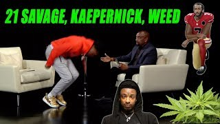 DC YOUNG FLY on 21 Savage's Arrest, Weed, Trump, & Kaepernick's National Anthem Protest (Highlight)