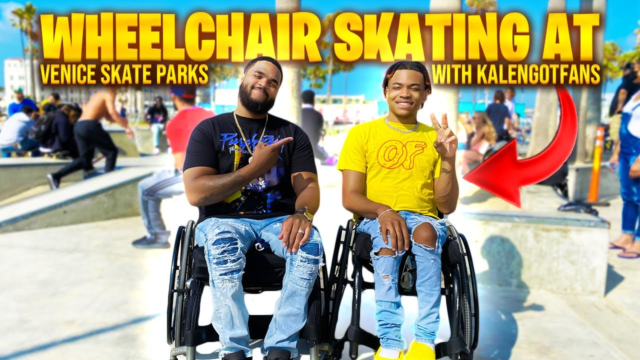 Skating at VENICE BEACH in OUR WHEELCHAIRS!!! **WITH KALENGOTFANS!**